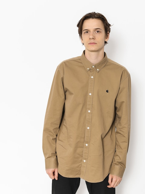 Carhartt WIP Shirt Madison Ls (leather/black)