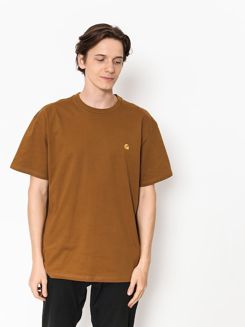 Carhartt WIP T-shirt Chase (hamilton brown/gold)