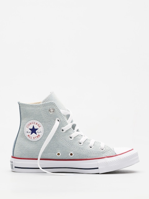 Converse Chucks Chuck Taylor All Star Hi (light blue/white/brown)