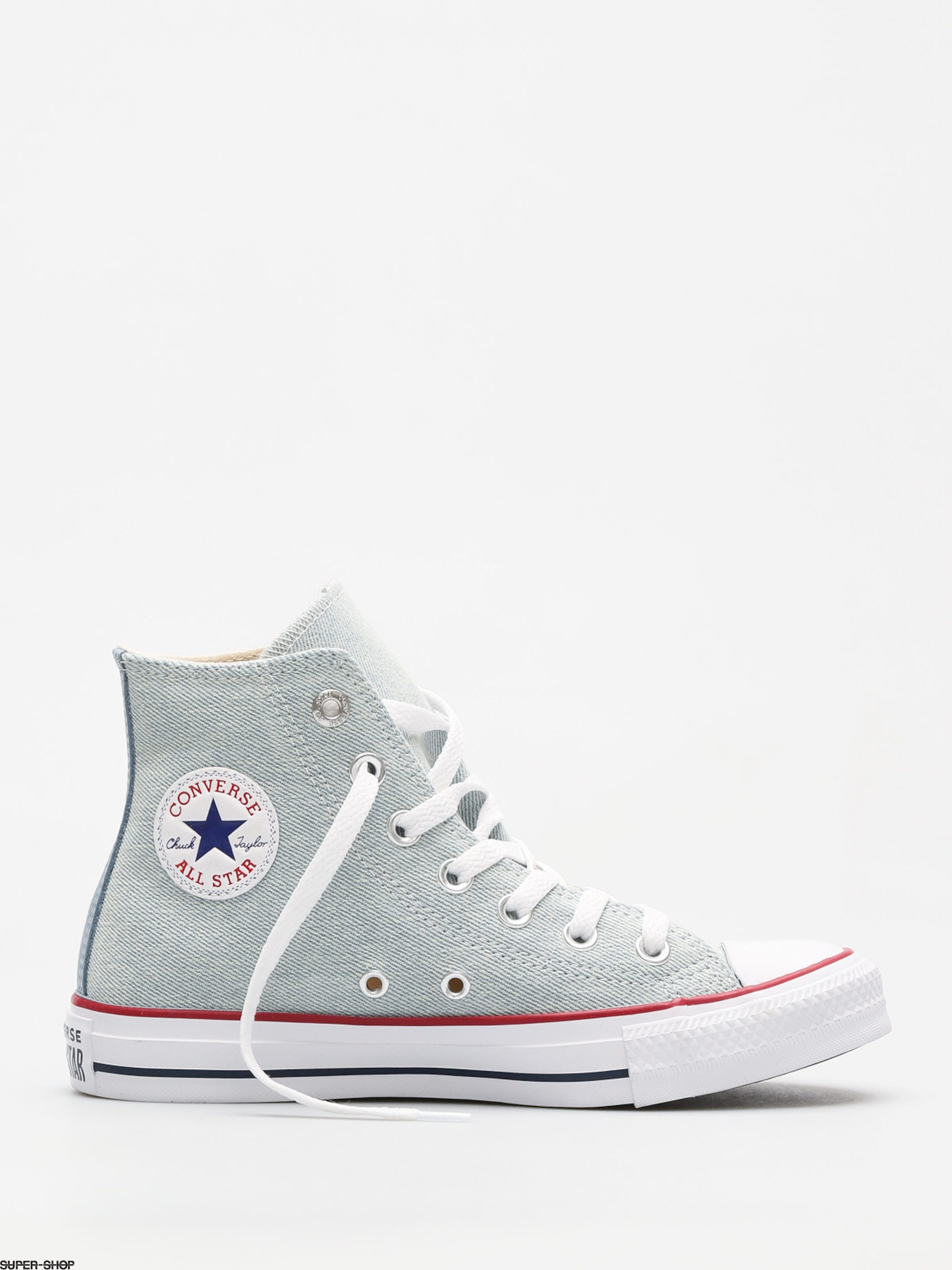 f99038dcc073e3 Converse Chucks Chuck Taylor All Star Hi (light blue white brown)