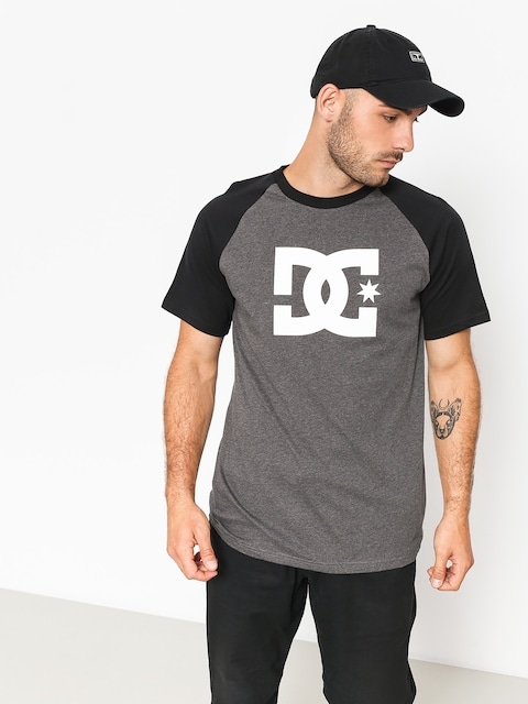 DC T-Shirt Star Raglan (black/charcoal heather)