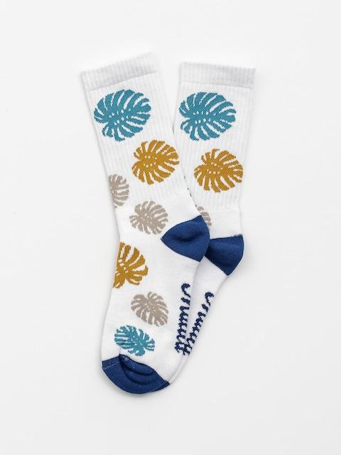 Malita Socken Leaves (white)