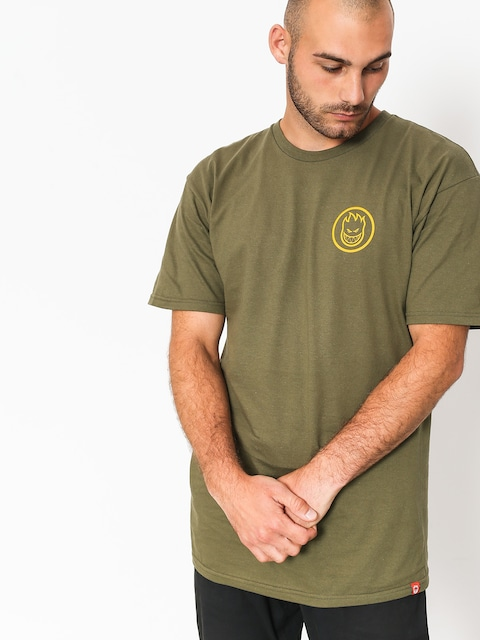 Spitfire T-shirt Classic Swirl (military green/yellow)