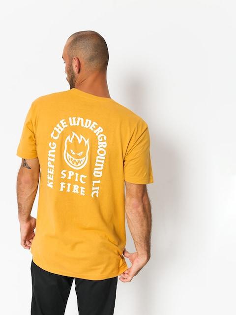 Spitfire T-Shirt Stdy Rckn Bghd (mustard)
