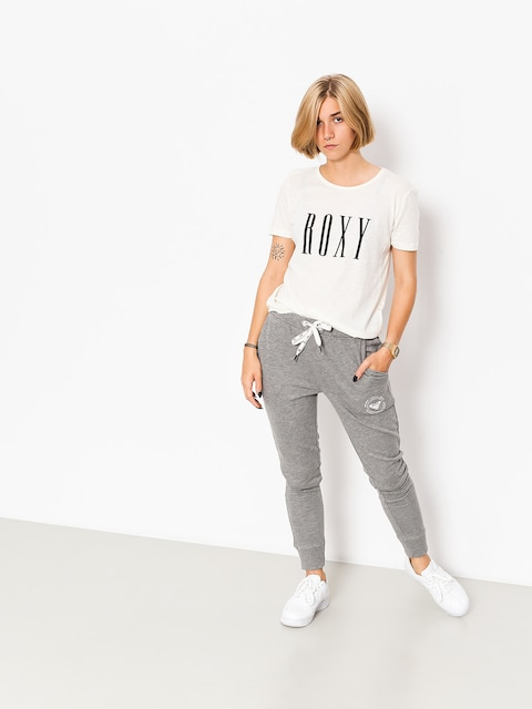 Roxy Pants Hello The World Flb Drs Wmn (charcoal heather)