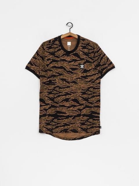 adidas T-Shirt Camo Aop (camo print/black/collegiate orange)