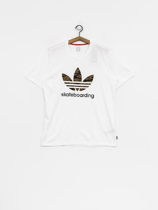 adidas T-Shirt Cmo 3.0 (white/camo print/collegiate orange)