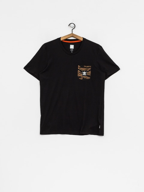adidas T-Shirt Cmo Pckt (black/camo print/collegiate orange)