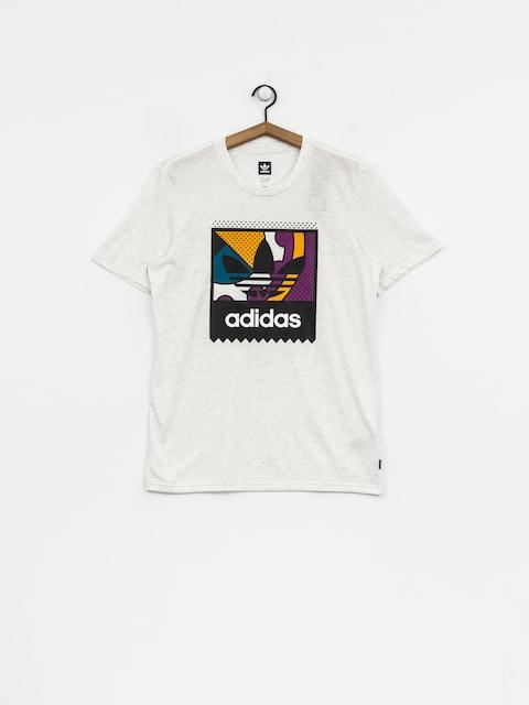 adidas T-Shirt Cog Lgo (pale melange/tribe purple/real teal)