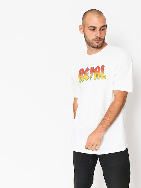 Real T-shirt Deeds Hwy 2 Hel (white/red)