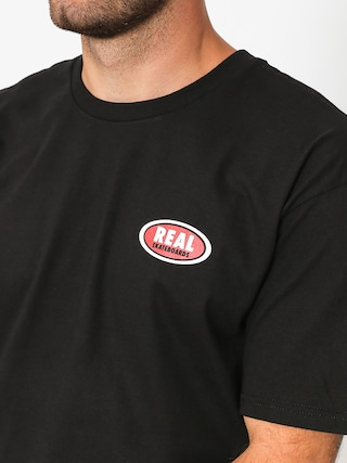 Real T-shirt Small Oval (black/red)