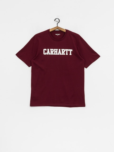 Carhartt WIP T-Shirt College (mulberry/white)