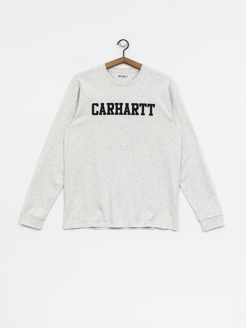 Carhartt WIP Longsleeve College (ash heather/dark navy)