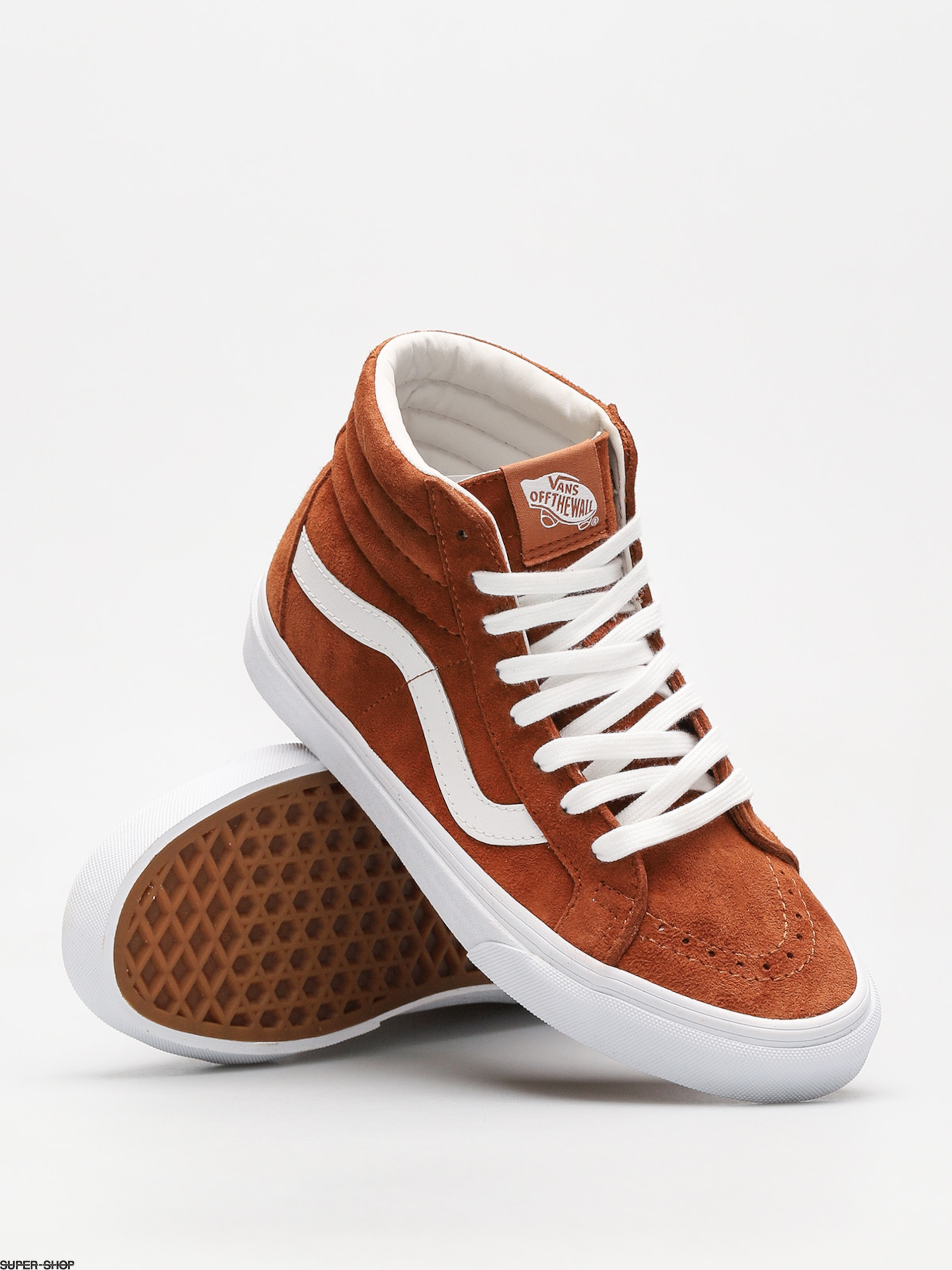 Vans Shoes Sk8 Hi Reissue (leather brown true white) 441e551a0ab2