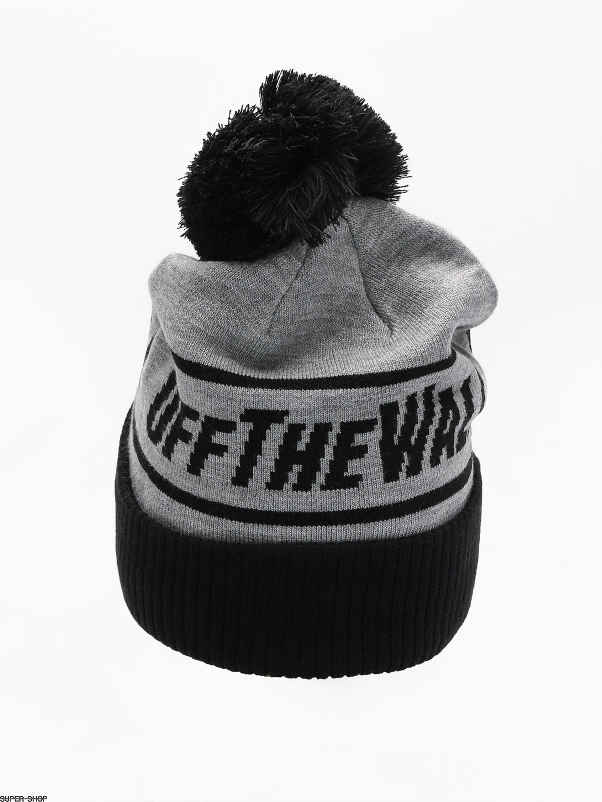 7eef88686ce Vans Beanie Off The Wall Pom (heather grey black)