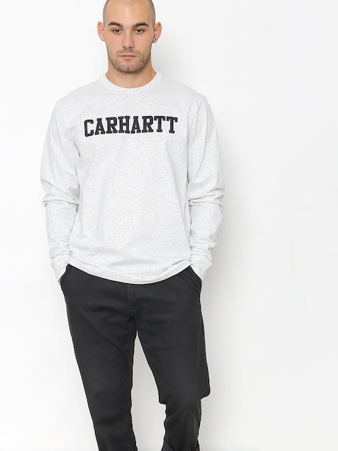 Carhartt WIP Longsleeve College (ash heather/dark navy)