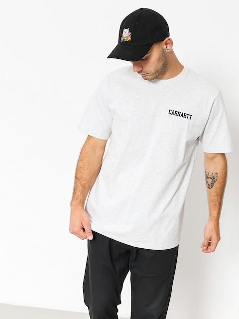 Carhartt WIP T-shirt College Script (ash heather/dark navy)