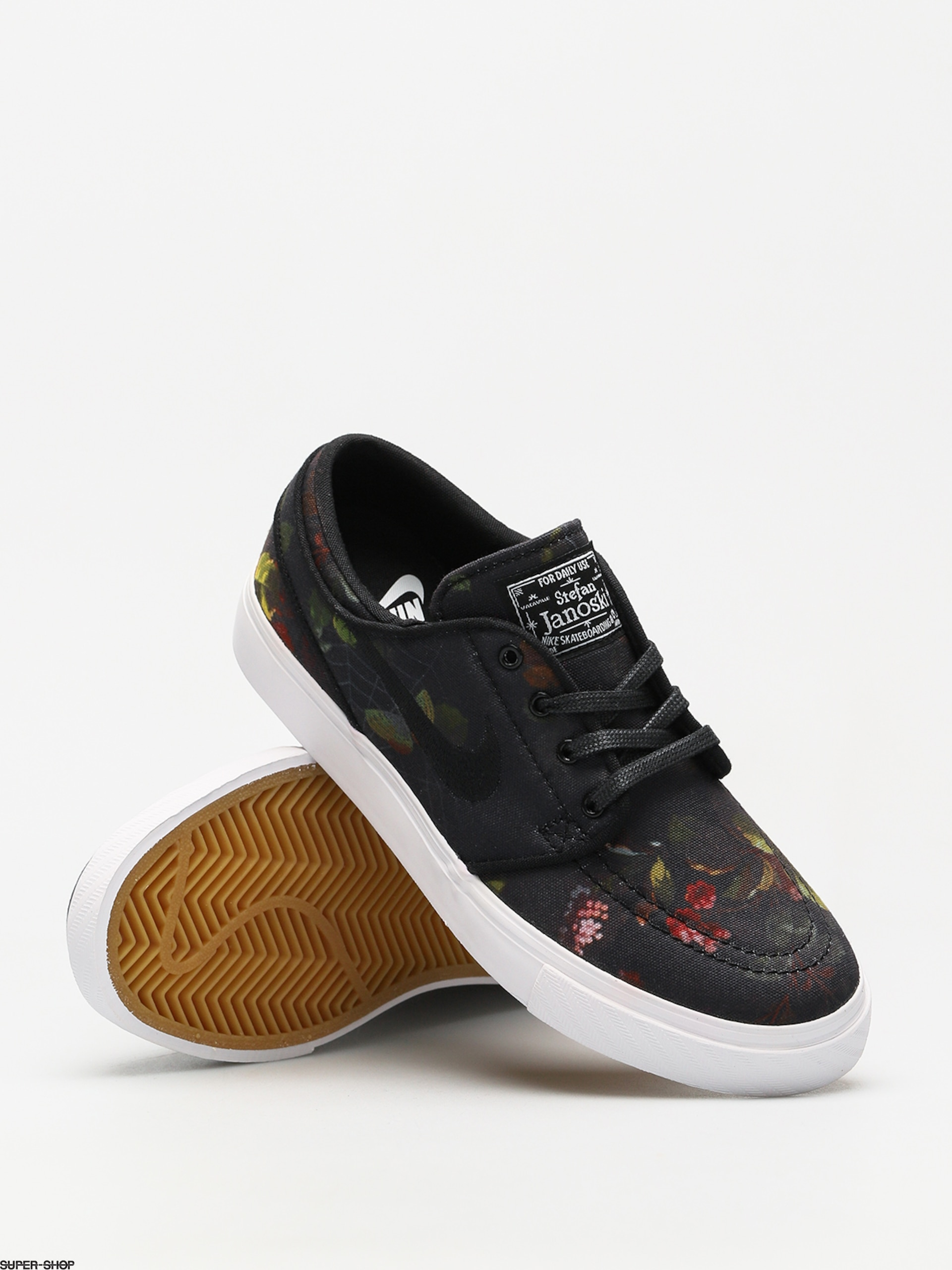 buy popular a0918 752dd Nike SB Shoes Zoom Sb Stefan Janoski Canvas (multi color black white gum  light brown)