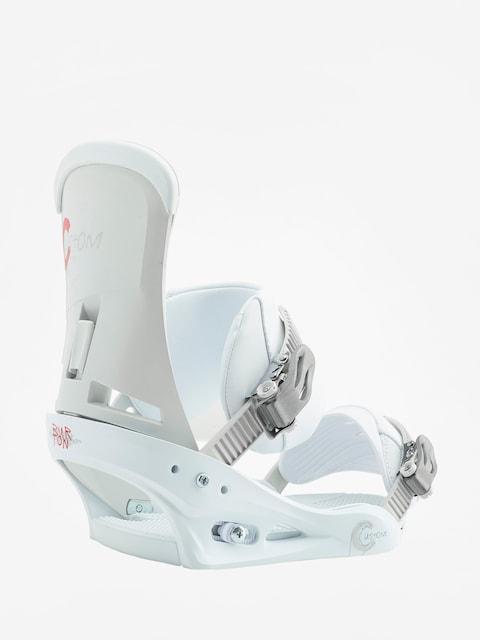 Burton Snowboard bindings Custom (white)