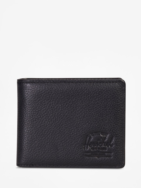 Herschel Supply Co. Wallet Hank Coin Leather Rfid (black pebbled leather)