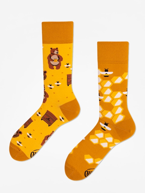 Many Mornings Socks Honey Bear (gold)