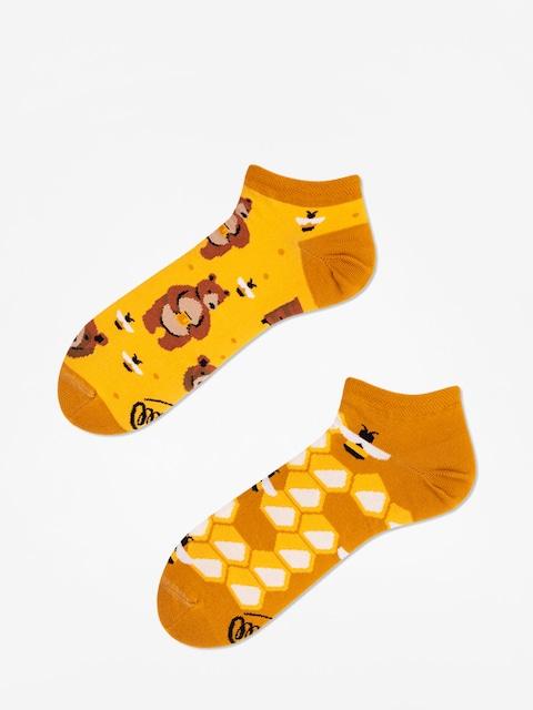 Many Mornings Socks Honey Bear Low (gold)