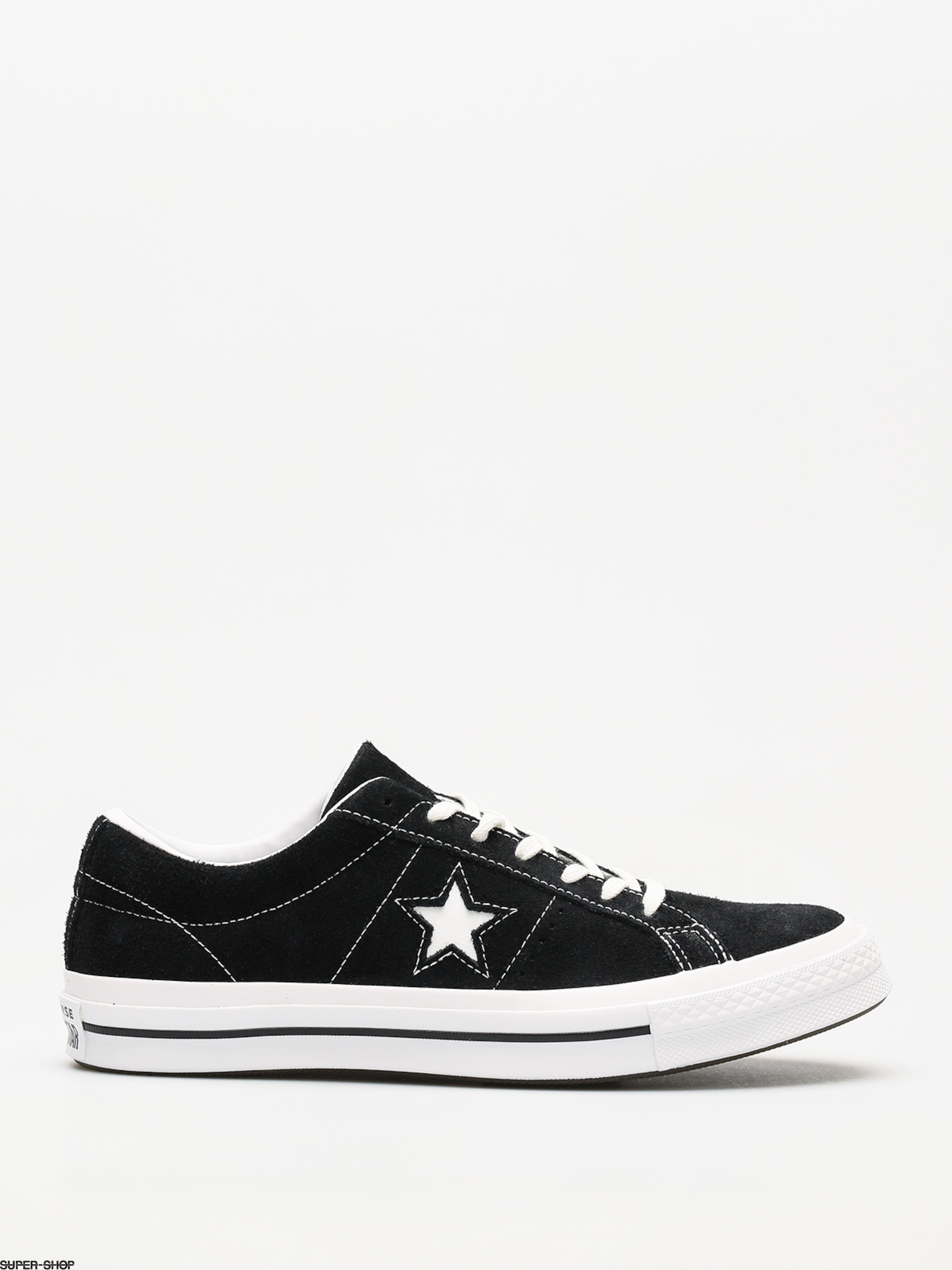 Converse Shoes One Star 74 Ox (blackwhitewhite)