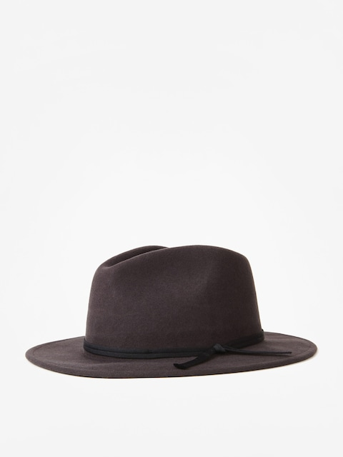 Brixton Hat Coleman Fedora (washed black)