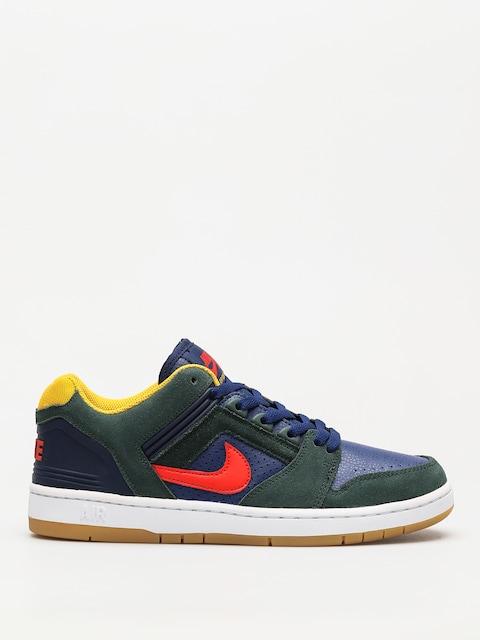Nike SB Schuhe Sb Air Force II Low (midnight green/habanero red blue void)