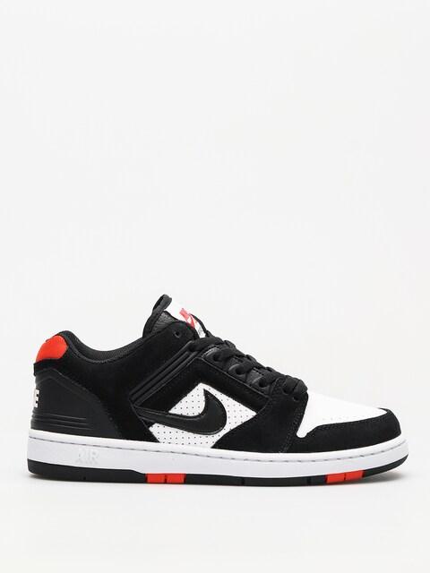Nike SB Schuhe Sb Air Force II Low (black/black white habanero red)