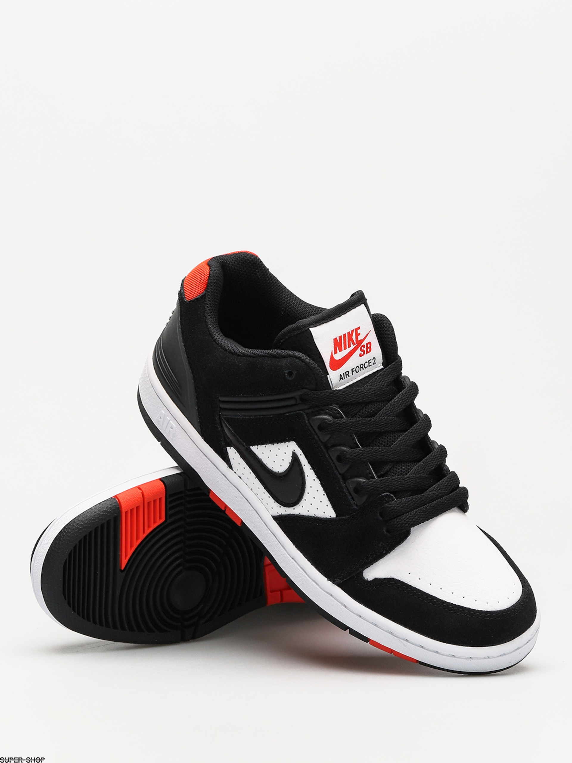 1861dcf9a80c Nike blackblack Habanero Red Air Sb Shoes Force White Low Ii rUqragwBf
