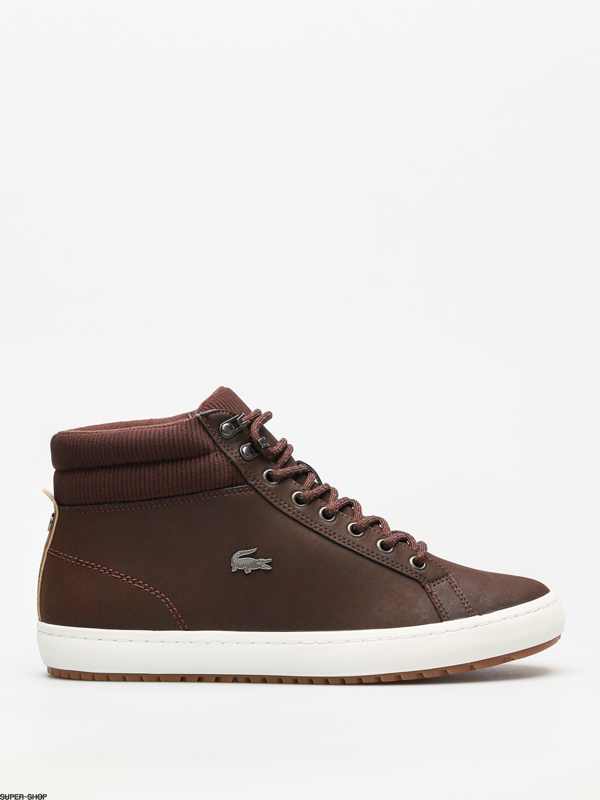 f4ee6c359653d Lacoste Shoes Straightset Insulac 3181 (dark brown dark brown)