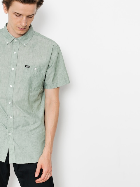Brixton Shirt Central Wvn (washed chive)