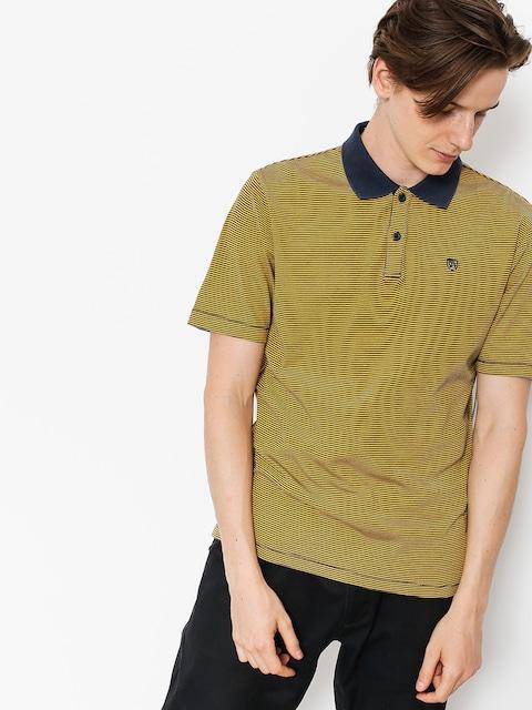 Brixton Polo t-shirt Johnston (navy gold)