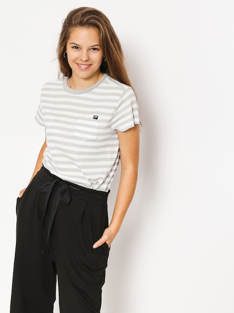 Fox T-shirt Striped Out Wmn (wht)