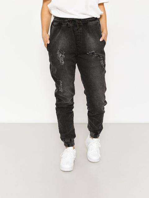 Diamante Wear Hose Rm Jeans Jogger Wmn (ripped black jeans)