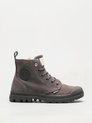 Palladium Shoes Pampa Hi Zip WL Wmn (cloudburst/charcoal gray)