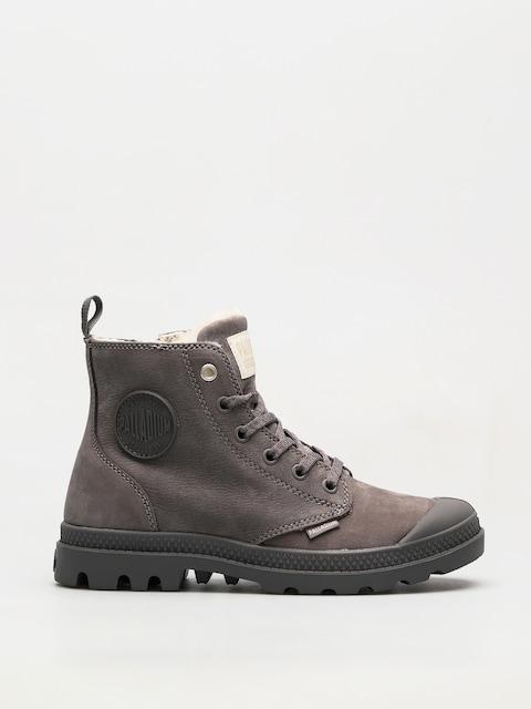 Palladium Schuhe Pampa Hi Zip WL Wmn (cloudburst/charcoal gray)