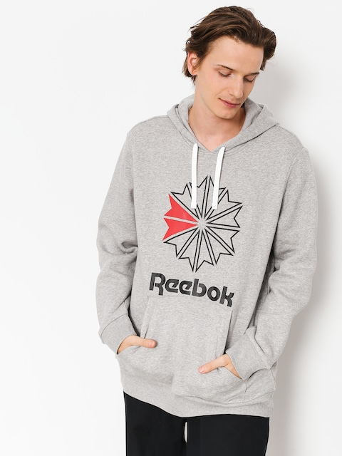 Reebok Hoodie F Star HD (medium grey heather/black)