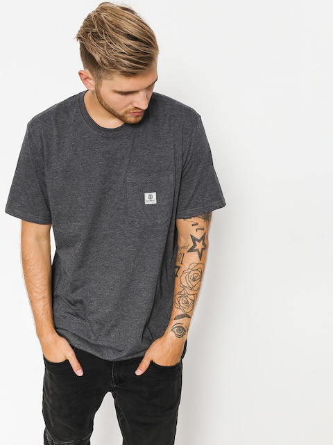 Element T-shirt Basic Pocket Label (charcoal heather)