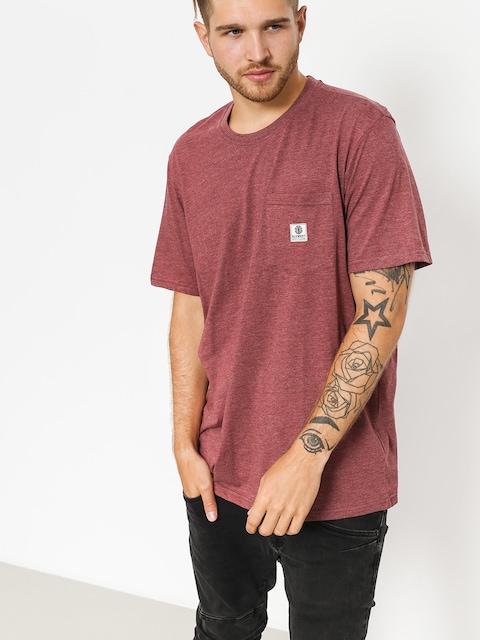 Element T-shirt Basic Pocket Label (oxblood heather)
