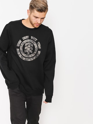 Element Sweatshirt Bark Logo Crew (flint black)