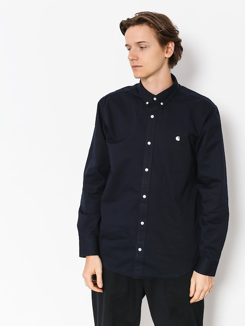 Carhartt WIP Hemd Madison Ls (dark navy/wax)