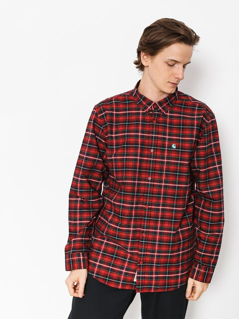 Carhartt WIP Hemd Patton Ls (blast red/soft)