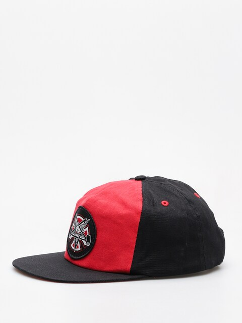 Independent x Thrasher Cap Pentagram Cross Adj Snapback ZD (cardinal/black)