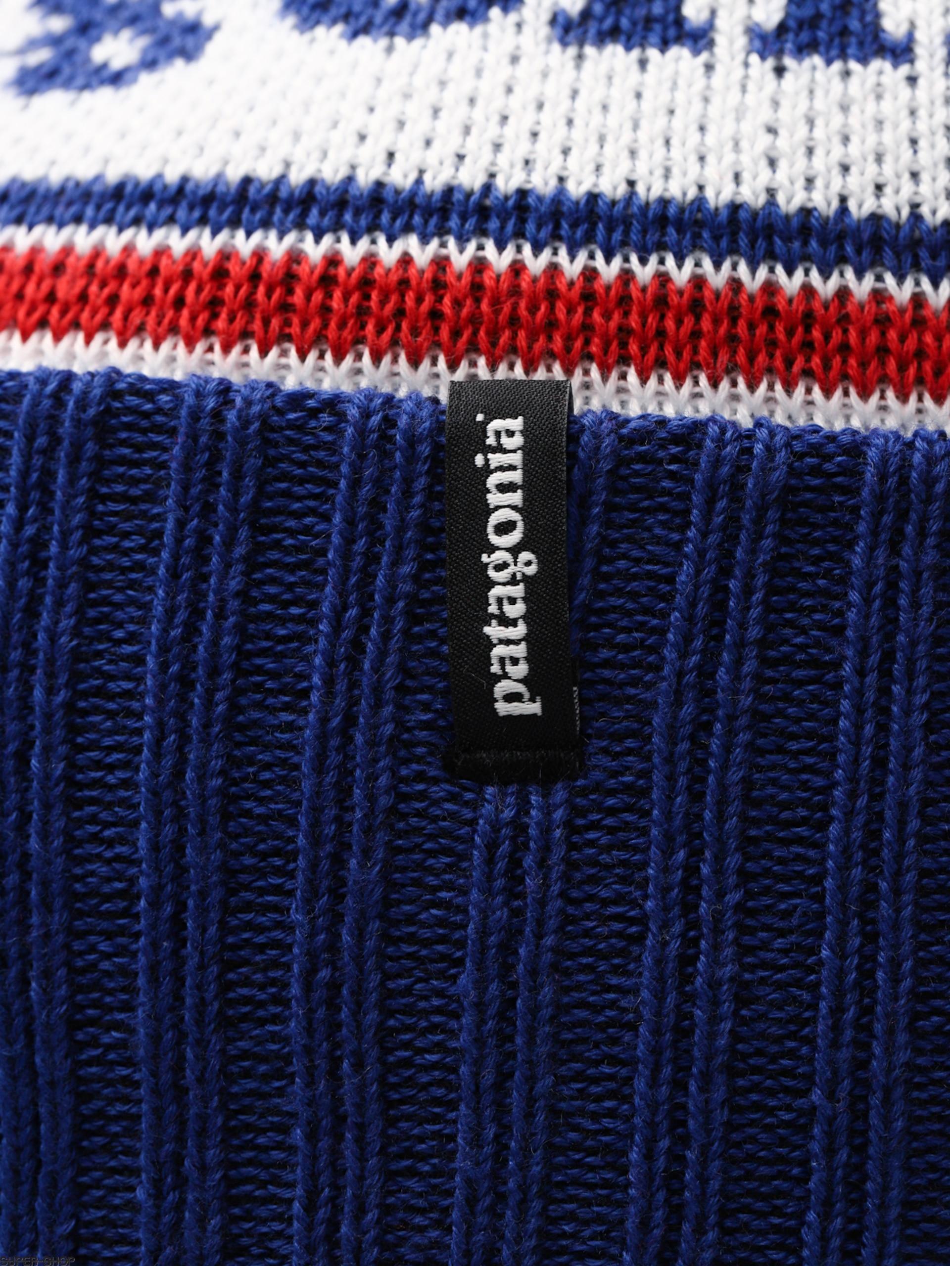 315d9fcfefe Patagonia Beanie Powder Town Beanie (park stripe viking blue)