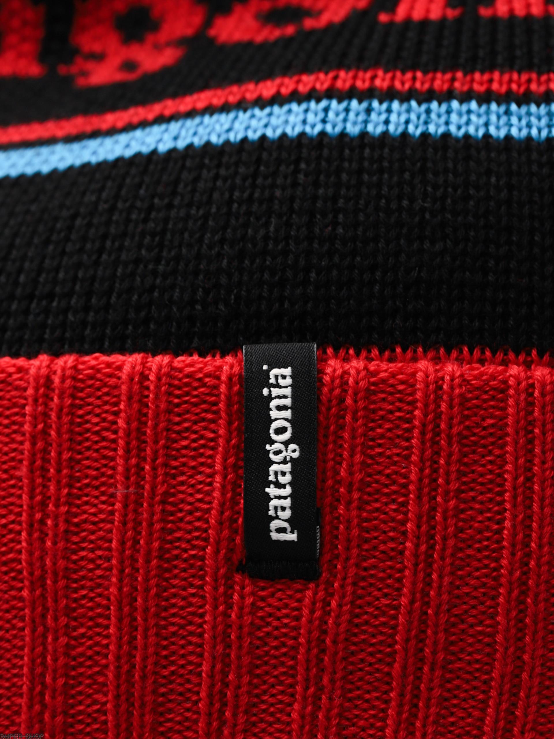 e5c58699344 Patagonia Beanie Powder Town Beanie (park stripe tomato  black)