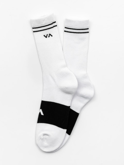 RVCA Socks Basic Block (white w black)