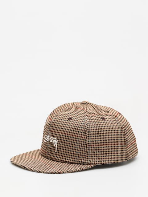 Stussy Cap Small Check Strapback Cap ZD (camel)