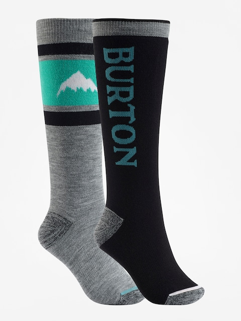 Burton Socks Weekend Midweight 2Pk Wmn (true black)